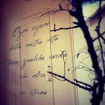 Decorazione scritta su porta legno